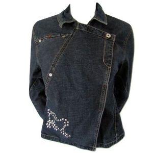 Parasuco Denim Cult Side Zip Jacket Size Medium